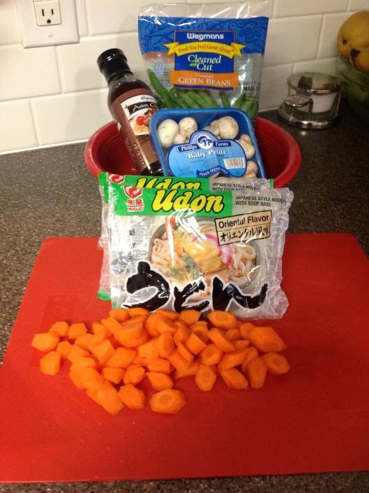 Udon ingrediants